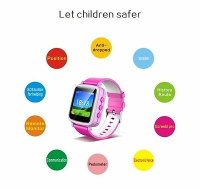 Kids Safety Smart Watch GPS LBS Activity Tracker SOS Call for Android iPhone New