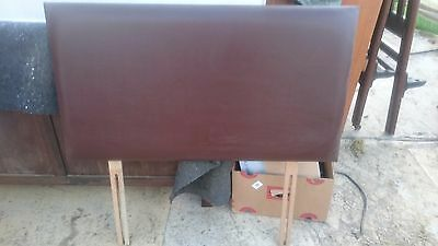 Dreams Brown Leatherette Headboard for 3 Foot Single Bed