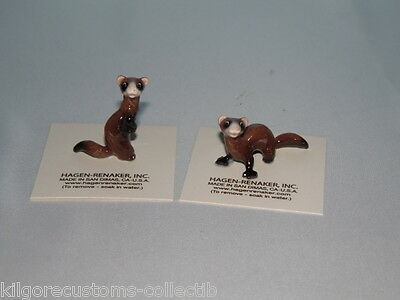 Hagen Renaker Ferret Set of 2 Lying and Standing FREE SHIPPING NEW