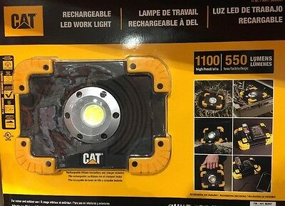 CAT Rechargeable LED WorkLights Light 1100 High/ 550 Low Lumens Work Light - New