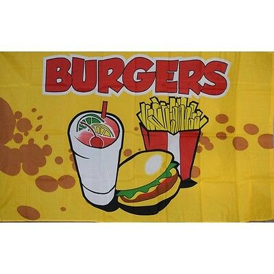 BURGERS BUSINESS SIGN FLAG 3'x5' BANNER