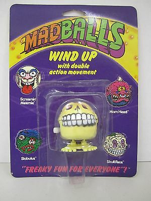 "1986 MAD BALLS - ""SKULL FACE"" Wind Up with Double Action Movement -"