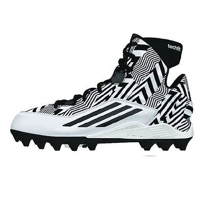 Adidas Filthyquick 2.0 Mid Youth Football Cleats Size 2 Black white