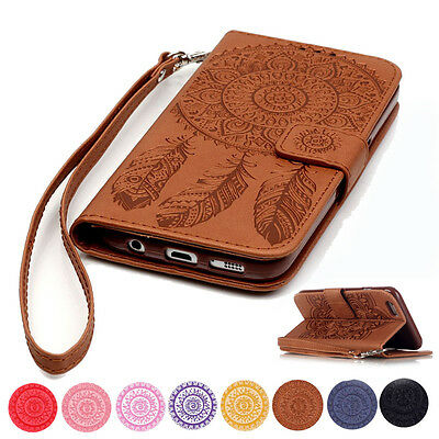 Pattern Magnetic Wallet Flip Leather Card Case Cover for iPhone SE 5 6 6s 7 Plus