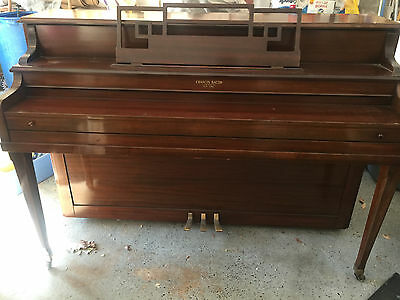 Antique Francis Bacon Upright Piano