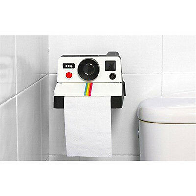POLAROLL Polaroid Camera Toliet Paper Roll Holder Wall Mount Bathroom Decor
