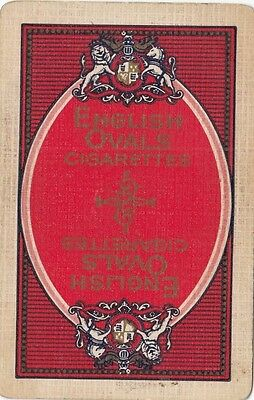 English Ovals Cigarettes advertising swap playing card