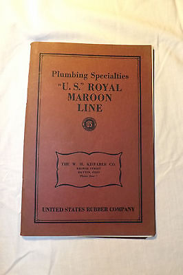 "Vintage United States Rubber Co. ""u.s. Royal Maroon Line""  Plumbing Specialties"
