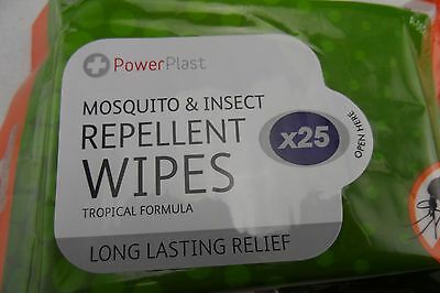 3 × Anti mosquito and  insect repellent wipes 25 PCS  Quality Made Free Shipping