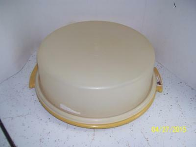 Tupperware ROUND Pie Cake Cookies Cupcakes Keeper Holder Taker Carrier GOLD