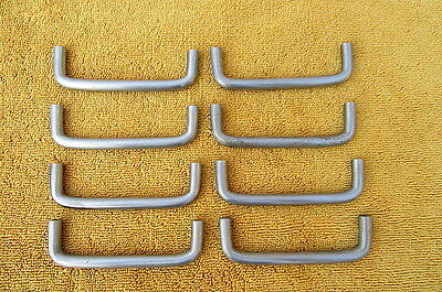 Vintage Set Of 8 Mid Century Modern Chrome Drawer Pulls