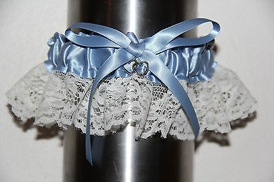 Blue And White Garter For Homecoming, Prom Or a Wedding