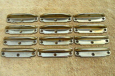 Vintage Lot Of 12 Brass Window Sash Lifts Pulls