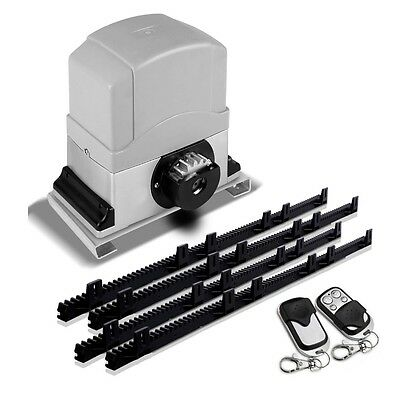 NEW 1200kg Capacity Motorised Automatic Sliding Gate Opener w/ 2 Remote Controls