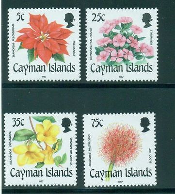 Cayman Islands 1987 Flowers MNH