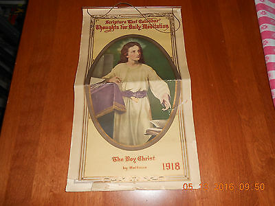 1918 Scripture Text Calendar Thoughts For Daily Meditation Christ Pictorial Life