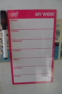 Fridge Magnetic Weekly planner To-Do List free whiteboard marker