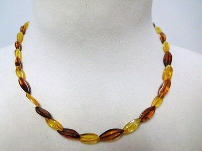 Vintage 70's Baltic Amber Necklace from Russia / USSR. Weigh 5.7 gr