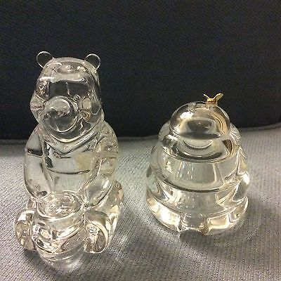 Lenox Crystal Pooh Salt and Pepper Shakers NWT