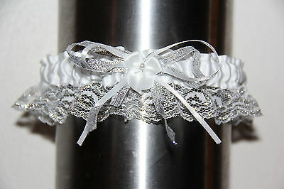 White and Silver Garter