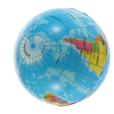World Map Foam Earth Stress Relief Bouncy Ball Atlas Geography Toy TH092 OG