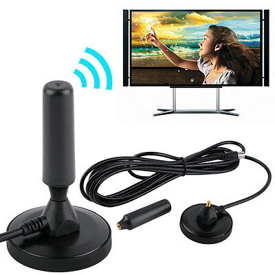 New Indoor Gain 30dBi Digital DVB-T/FM Freeview Aerial Antenna PC for TV HDTV OP