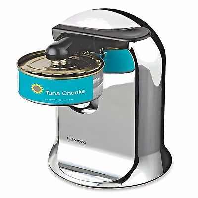Automatic 3 In 1 Electric Can Bottle Opener Chrome Tin Sharpener