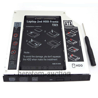 PATA/IDE 2nd hard drive HDD/SSD caddy for Alienware M7700 Clevo D9T D9K 12.7MM