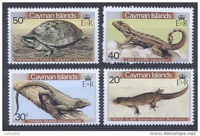 Cayman Islands 1981 Reptiles and Amphibians MNH