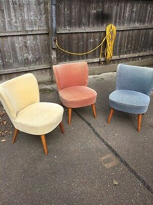 Very Rare Opportunity, Knoll Antimott Mid Century Cocktail Chairs Bartholomew