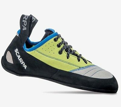 Scarpa Velocity L Mens Leather Rock Climbing Shoes - Lt Gry/Lim