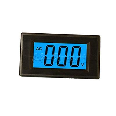 2-wire AC 80-500V Digital Blue LCD Circuit Volt Panel Meter Voltmeter Monitor AS