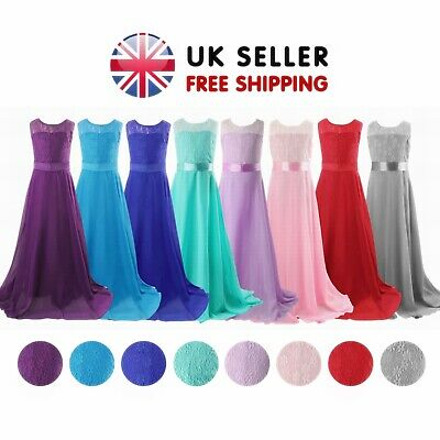 Flower Girls Bridesmaid Wedding Lace Dress Party Ball Prom Christening Princess