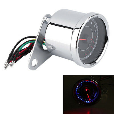 Motorcycle Backlight 12V Tachometer Speedometer Tacho Gauge 0-13000 RPM F6