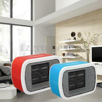Portable 500W Electric PTC Fan Heater Mini Desktop Warm Convector Winter Space