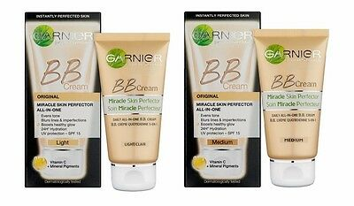 GARNIER BB-Creme Miracle Skin Perfector  Täglich All-in-One SPF 15 Licht/Medium