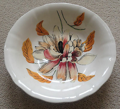 Art Deco CLARICE CLIFF Orchid Royal Staffordshire Ceramic Pottery Bowl 1940's