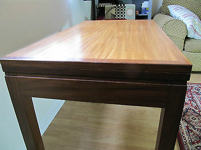 70's Teak Card Table, Folding Poker Games Consol Table, MOD Military Commision