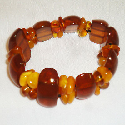 Antique Baltic Amber Bracelet 33 Gr! Rare Egg Yolk Butterscotch. Genuine! 99