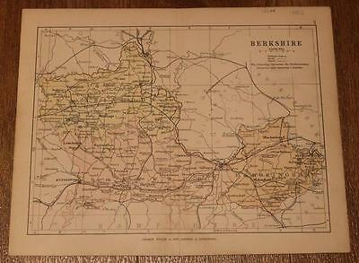 1886 Philips' Map of Berkshire from his Handy Atlas