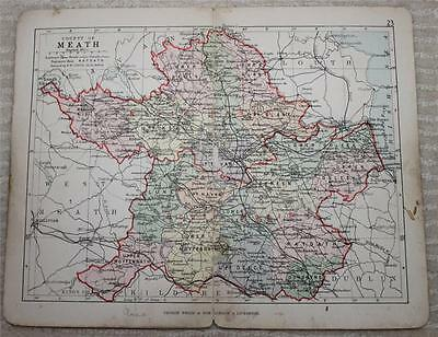 1890 Philips Map of County of Meath, Ireland