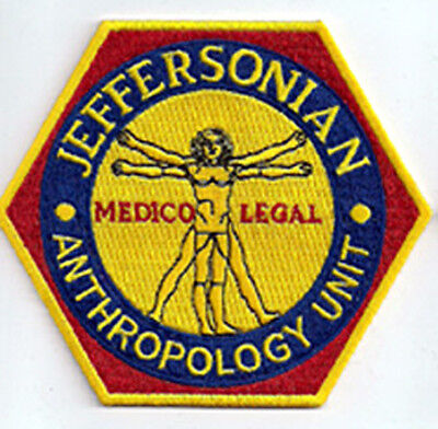 BONES - Jeffersonian Anthropology Unit - Serie Unifom Patch Aufnäher - neu