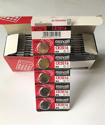 Genuine Maxell CR2016 Button Coin Cell Lithium Batteries 3V Battery Remote