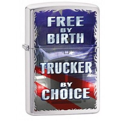 Zippo Free by Birth Brushed Chrome Lighter Brand New
