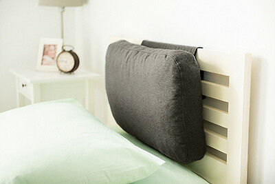 Graphite Wool Feel Headboard Cushion Bed Rest Head Board Neck Support Cushion