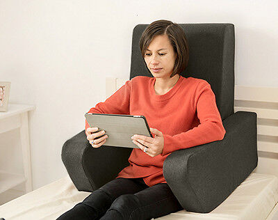 Graphite Una Bed Rest Support Pillow Reading Cushion Mobility Back Support Arm