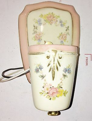 Vintage Antique Floral Ceramic Porcelain Sconce Wall Light Fixture Harmony House