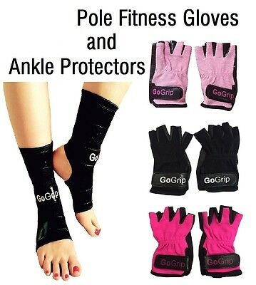 ✩ GoGrip Pole Dance Fitness Gloves, Ankle Protectors, Grip x ✩