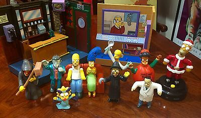 Simpsons Diorama And Halloween Happy Meal Toys And Hommer Santa