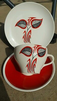RARE Mid Century 1950s WADE Flair Part Tea Set Red Atomic Vintage